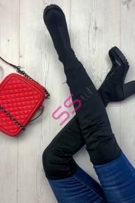 55056abdcf Dámske elastické čižmy nad kolená DAISY