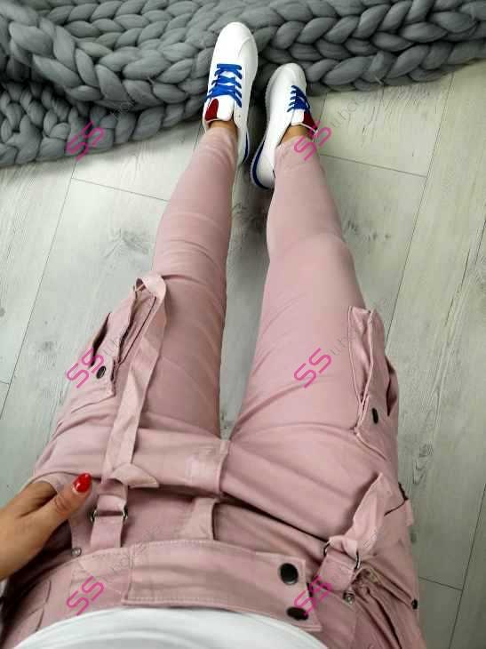 aeec4a59ba77 Dámske nohavice na traky s gumeným pásom