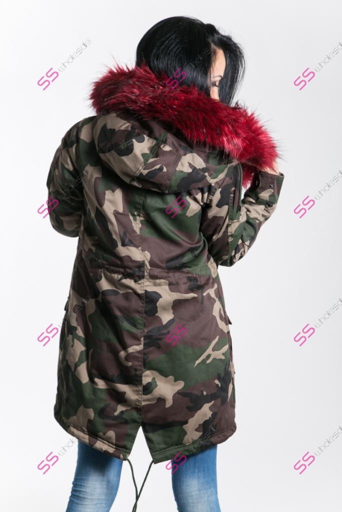 Maskáčová zimná bunda s extra hustou kožušinou  d648f89d947