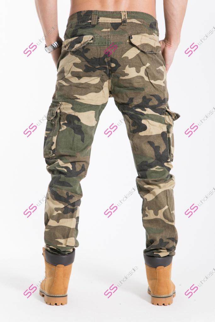 c70f6174a773 Pánske štýlové maskáčové nohavice +